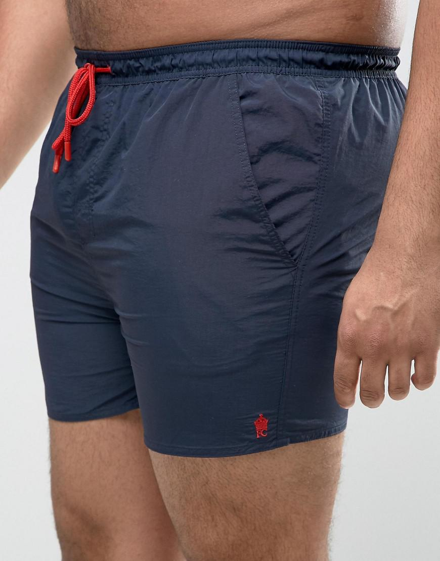 PLUS Swim Shorts with Contrast Draw String and Inner - Navy French Connection Cheap Huge Surprise From China For Sale Ri3Pk2