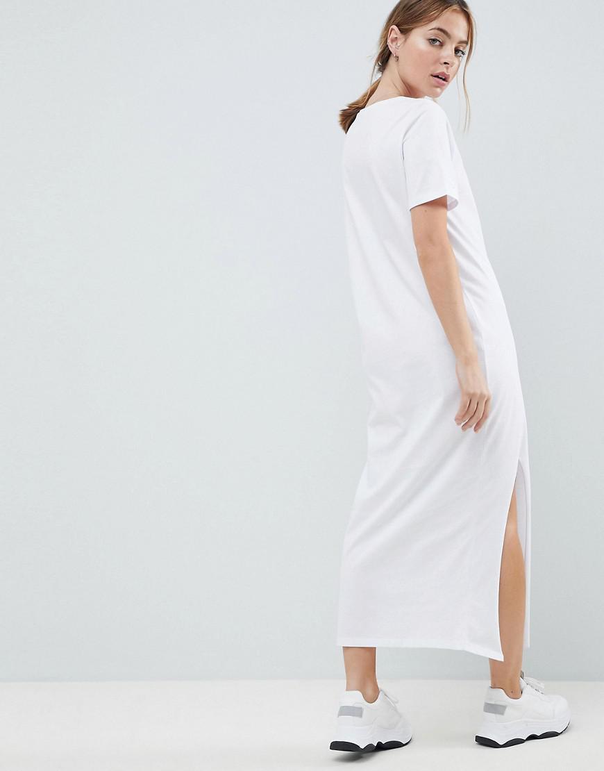 street price hot-selling discount durable service ASOS White Asos Design Petite Ultimate T-shirt Maxi Dress