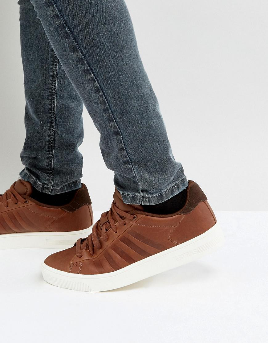 Court Frasco Trainers In Brown
