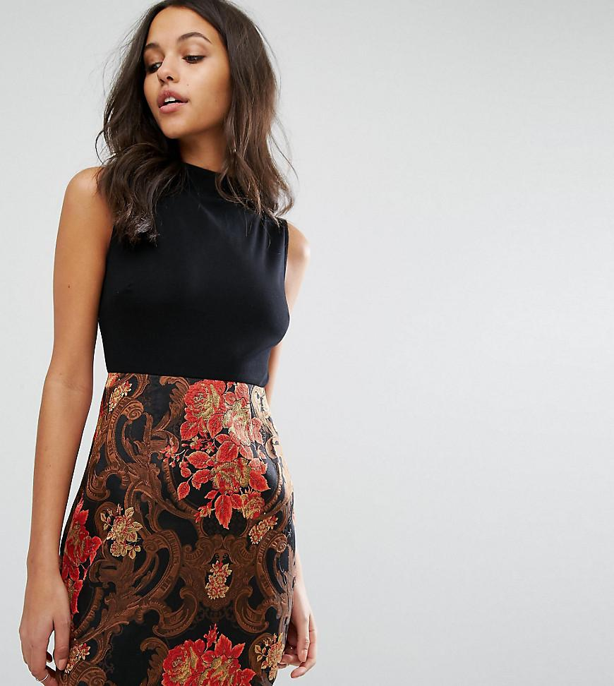 f6b5552d7f05ba Missguided 2 In 1 Dress With Jacquard Skirt in Black - Lyst