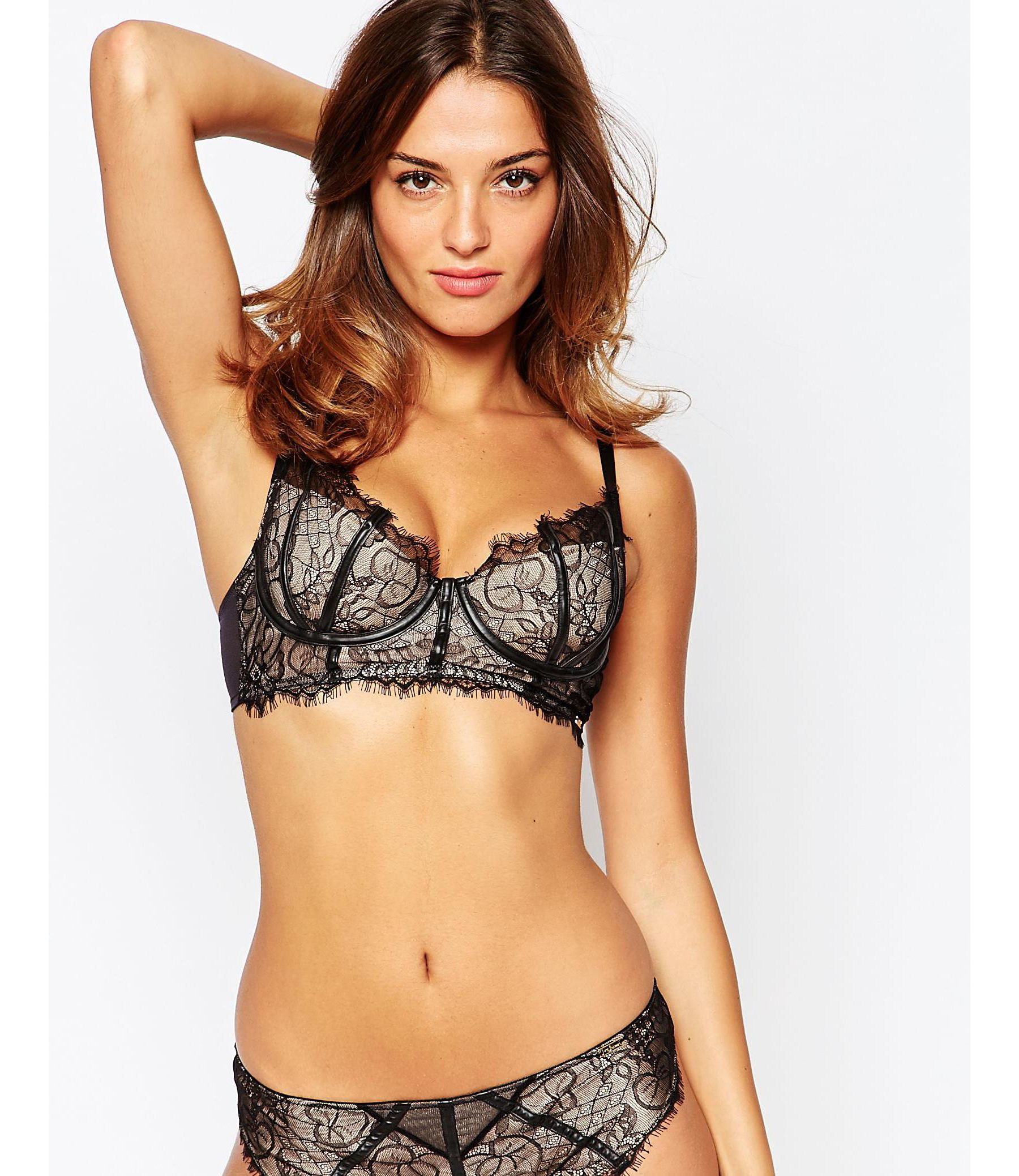 Ultimo Black Label Cher Longline Bra In Black
