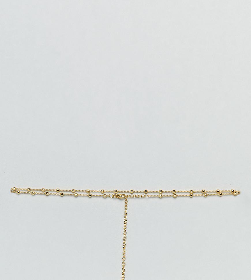 Kinglsey Ryan Gold Plated Delicate Chain Choker - Gold Kingsley Ryan ZFAPH8Uqv