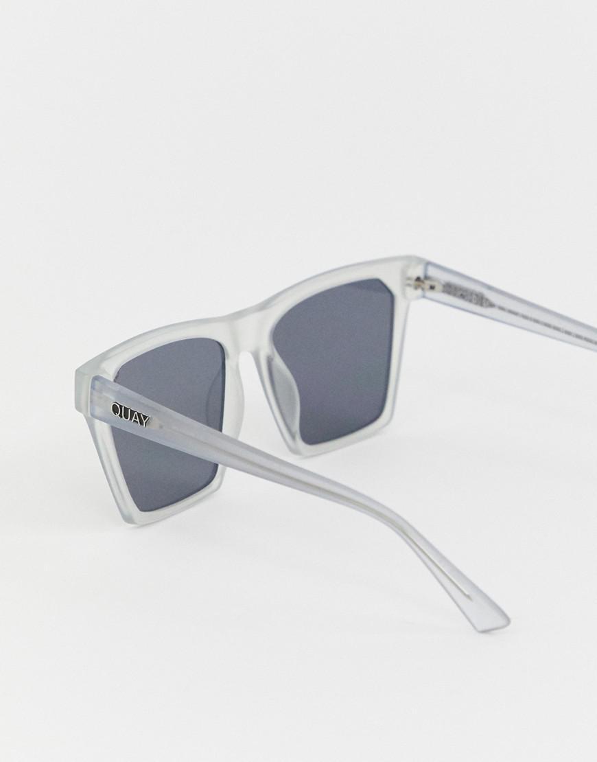 4efec2a2e Quay Square Clear Frame Sunglasses in White - Save 16.66666666666667% - Lyst