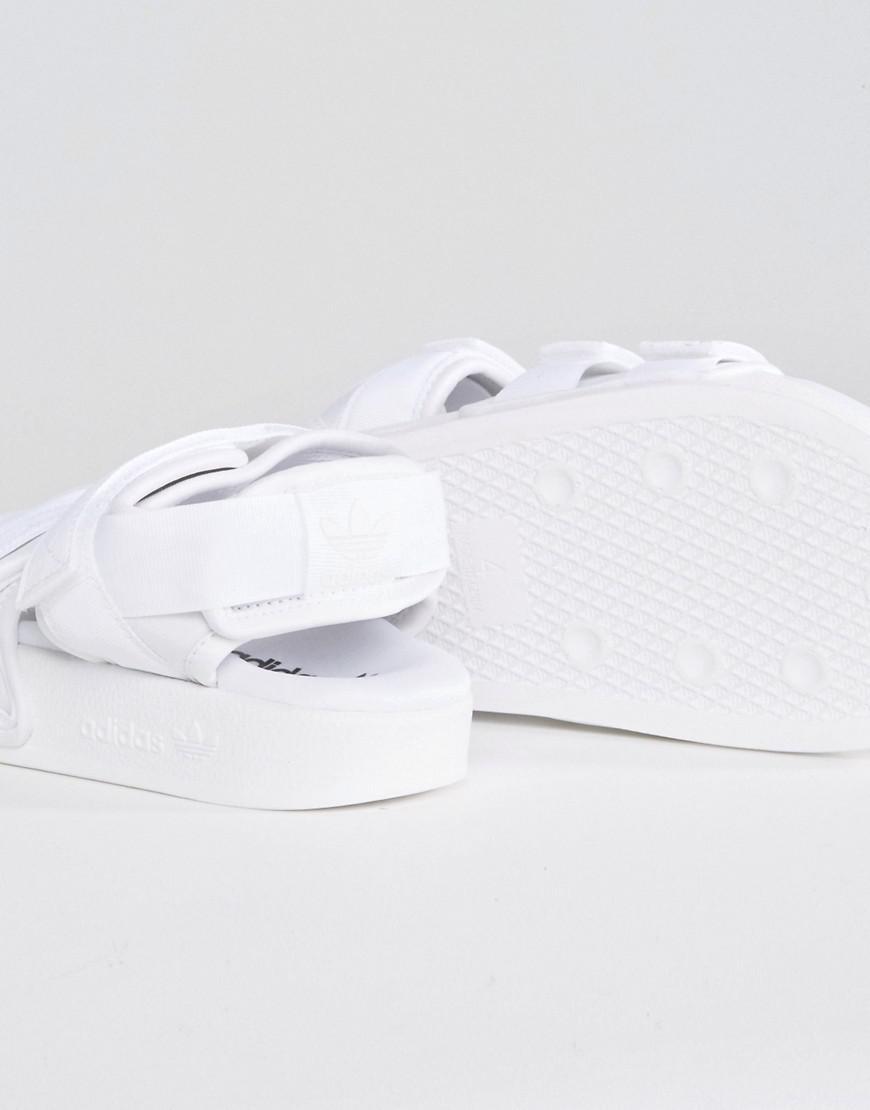 f779a7a10864 adidas Originals Originals White Adilette Strappy Sandals in White ...
