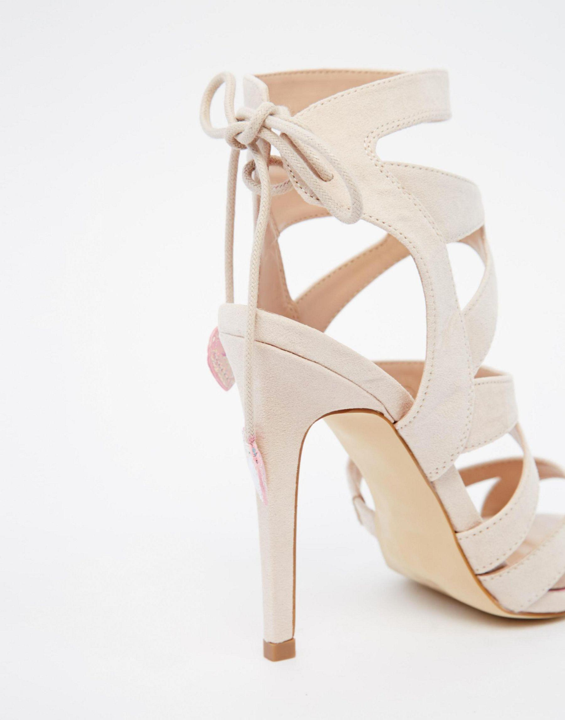 Miss Kg Frenchy Caged Wedding Sandal (£64) liked on