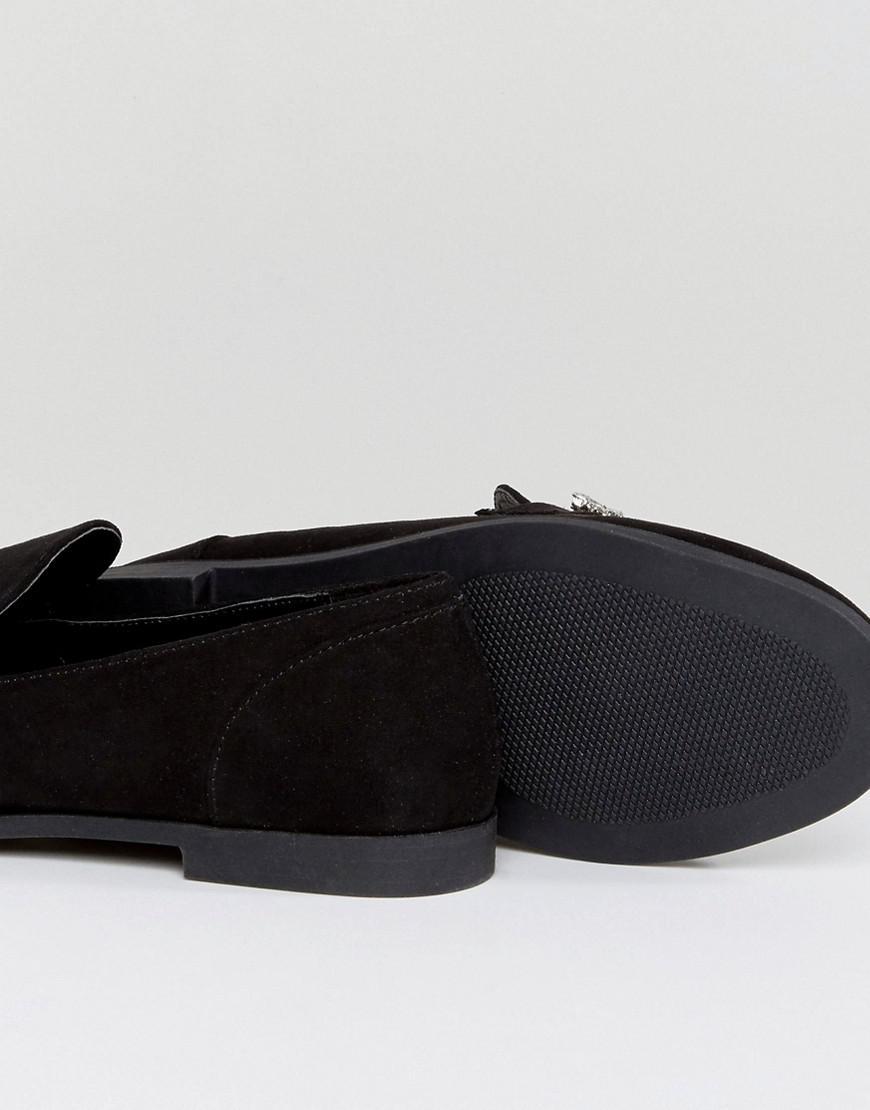 c0d826348d7 Lyst - Boohoo Embellished Trim Loafer in Black
