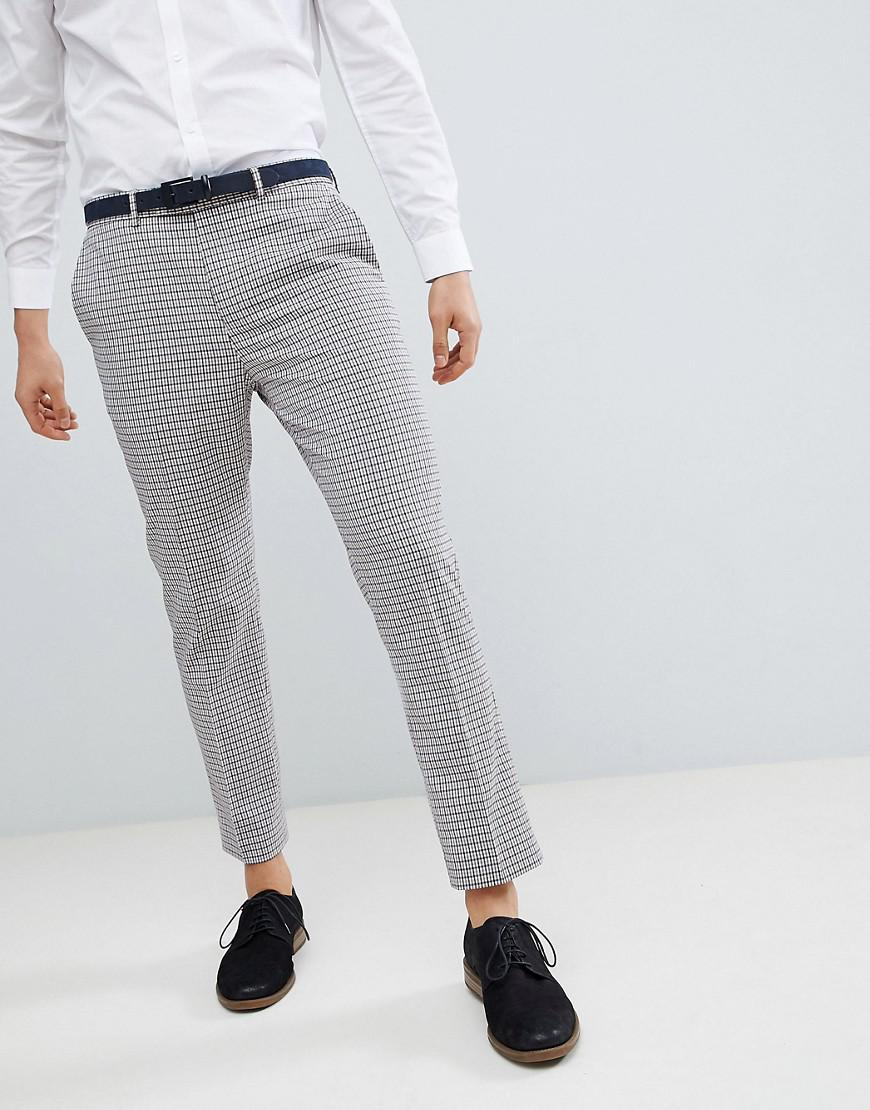 3a3d81dde0 River Island Gray Cropped Trousers In Vintage Check for men