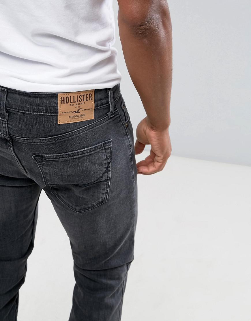 Hollister Denim Jeans Skinny Fit Stretch In Washed Black for Men