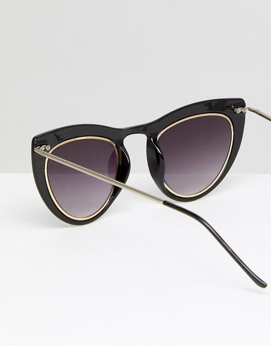 Spitfire Outward Urge Cat Eye Sunglasses In Black