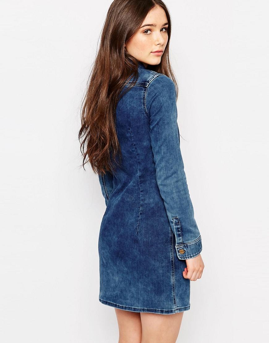 Pepe Jeans Cindy Denim Dress - Blue