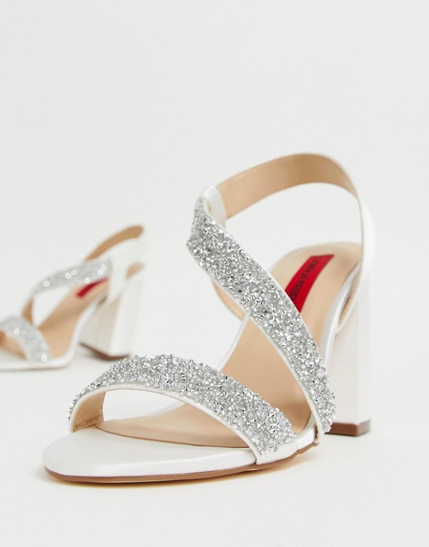 e473c5720d18 London Rebel. Women s Bridal Barely There Embellished Block Heel Sandals