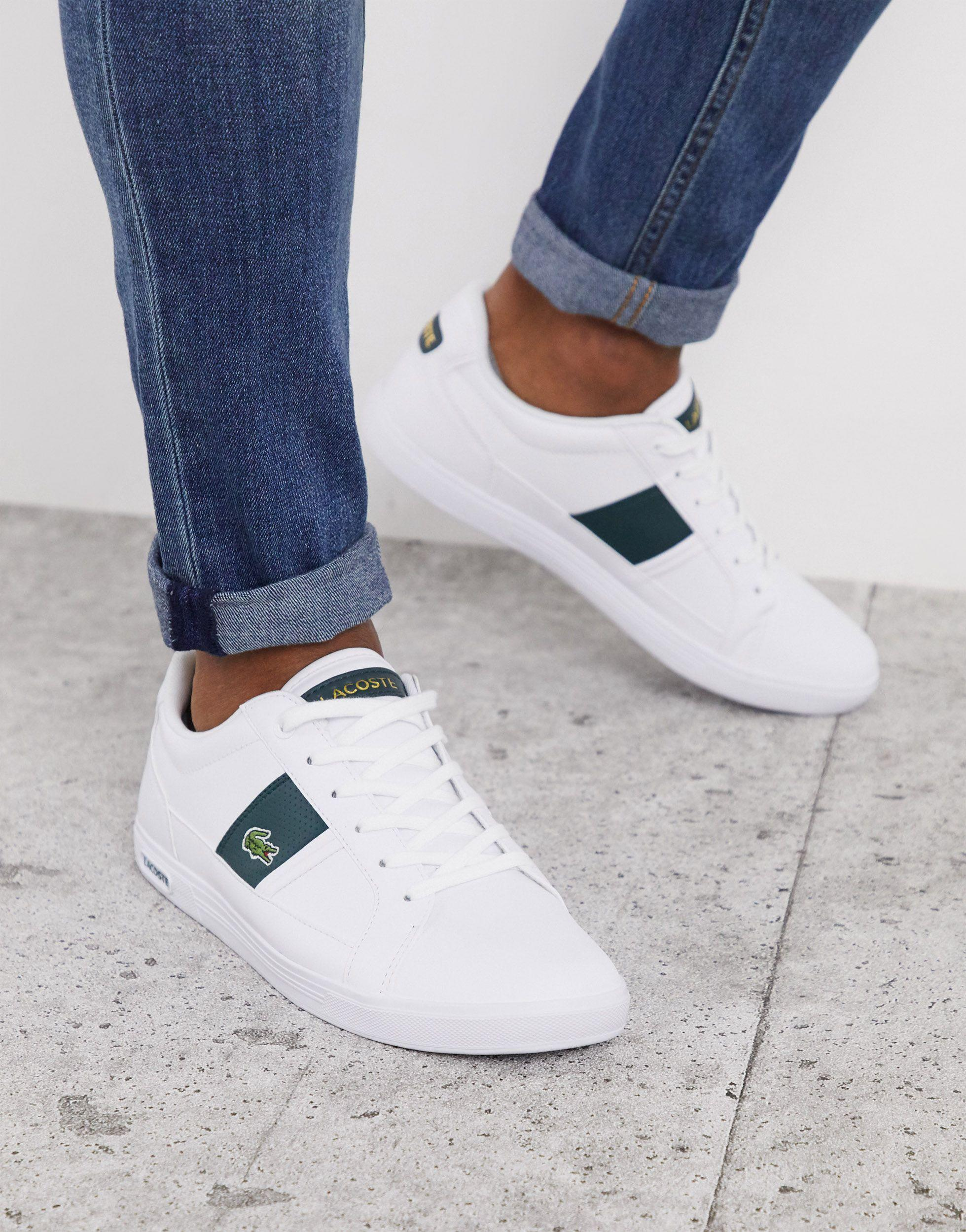 Europa Trainers With Green Stripe