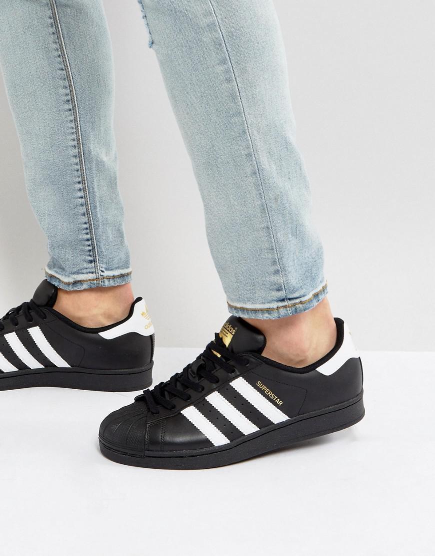 lyst lyst lyst adidas superstar scarpe originali b27140 in nero per gli uomini. 638ba5