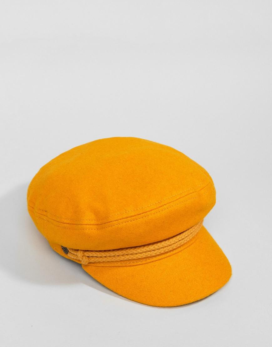 f2bf5552f0025 Brixton Baker Boy Hat In Mustard in Yellow - Lyst