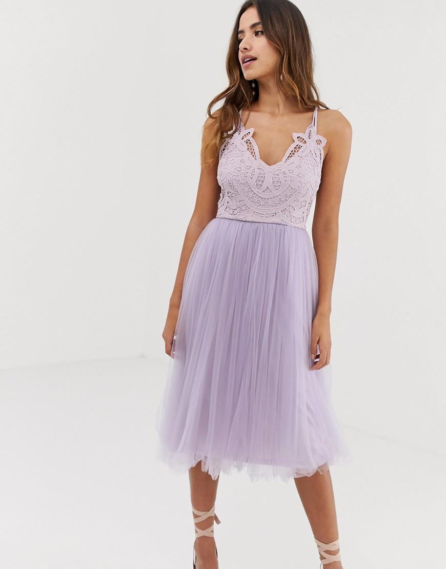 36a01916d59 Asos Lace Sequin Bodice Cami Midi Skater Dress - Gomes Weine AG