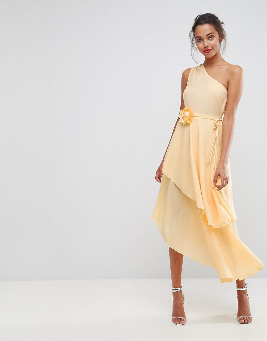 One Shoulder Layered Dress