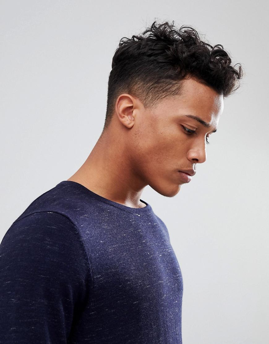 Jack & Jones Denim Premium Knit With Fleck in Navy (Blue) for Men