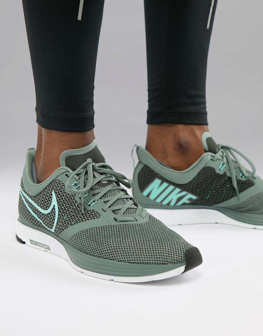 152deb6b6e Nike Zoom Strike Trainers In Green Aj0189-301 for Men - Lyst