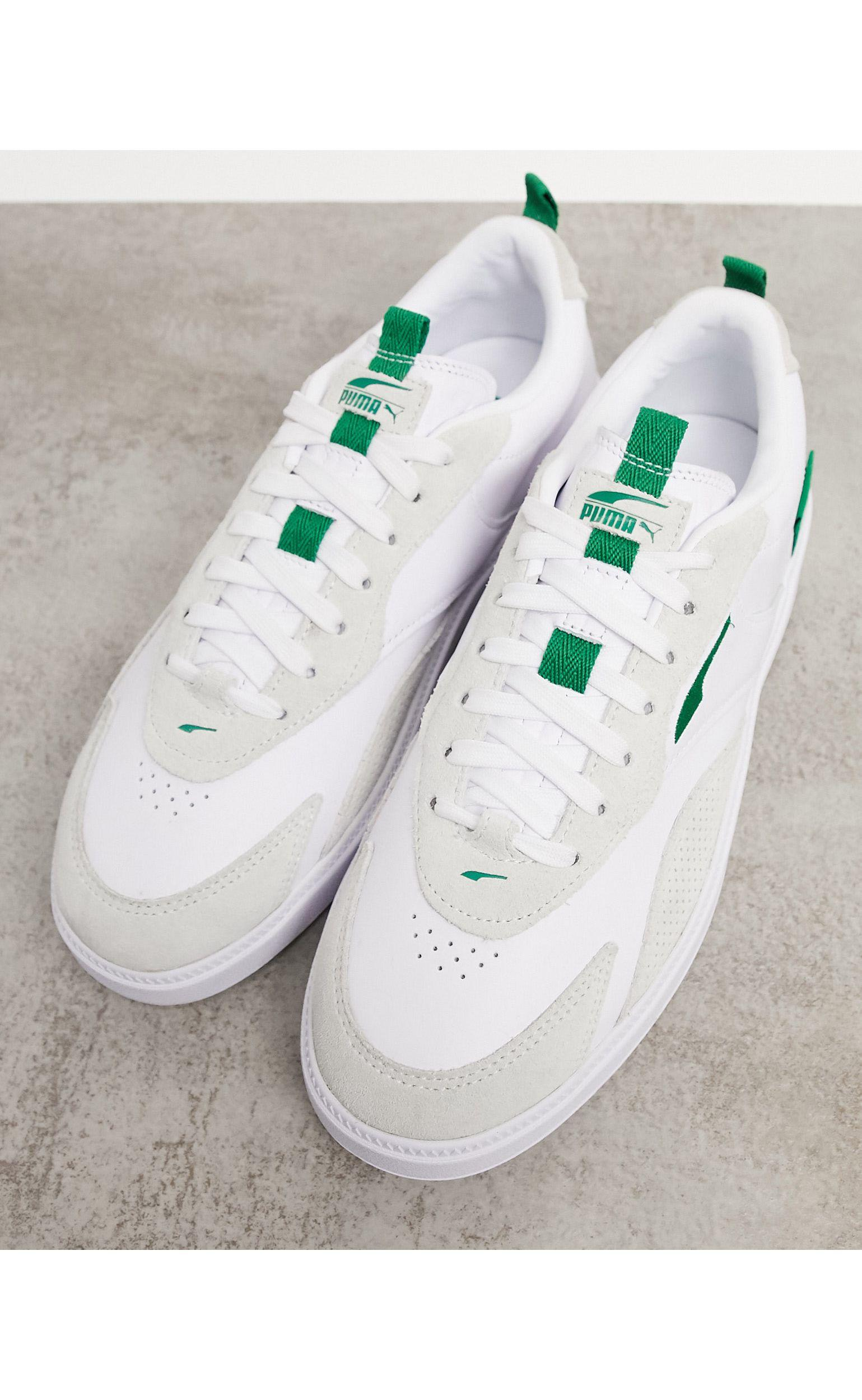 PUMA Oslo Pro Leather Trainer in White for Men - Lyst