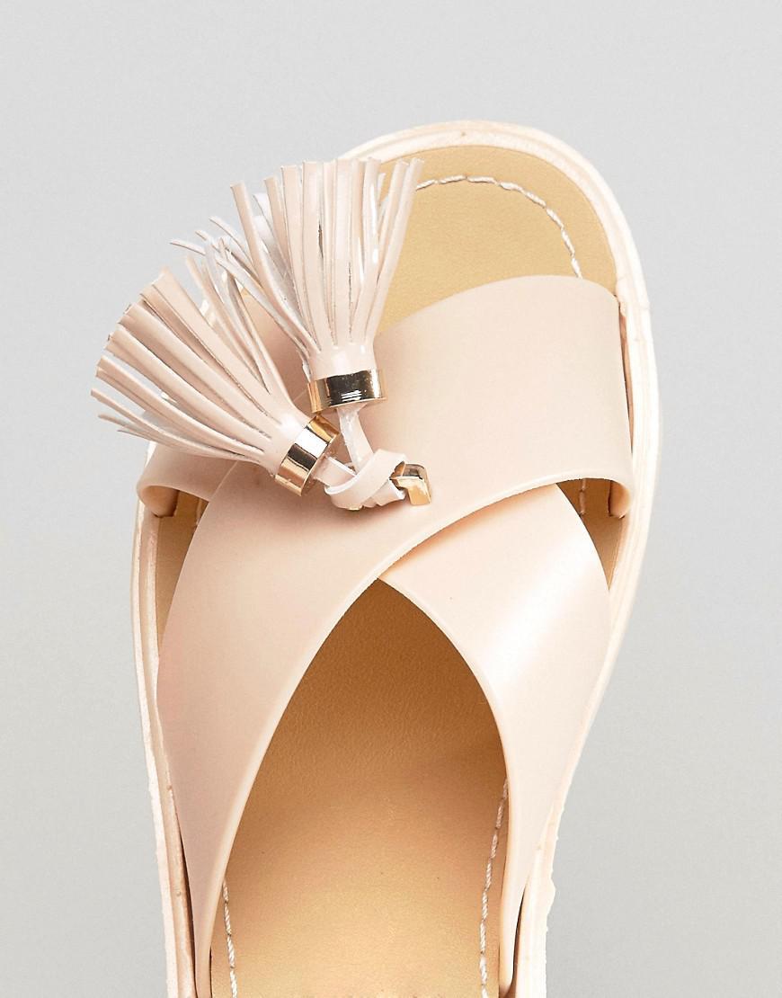 Lyst Call It Spring Kirikkale Tassel Slide Flat Sandals