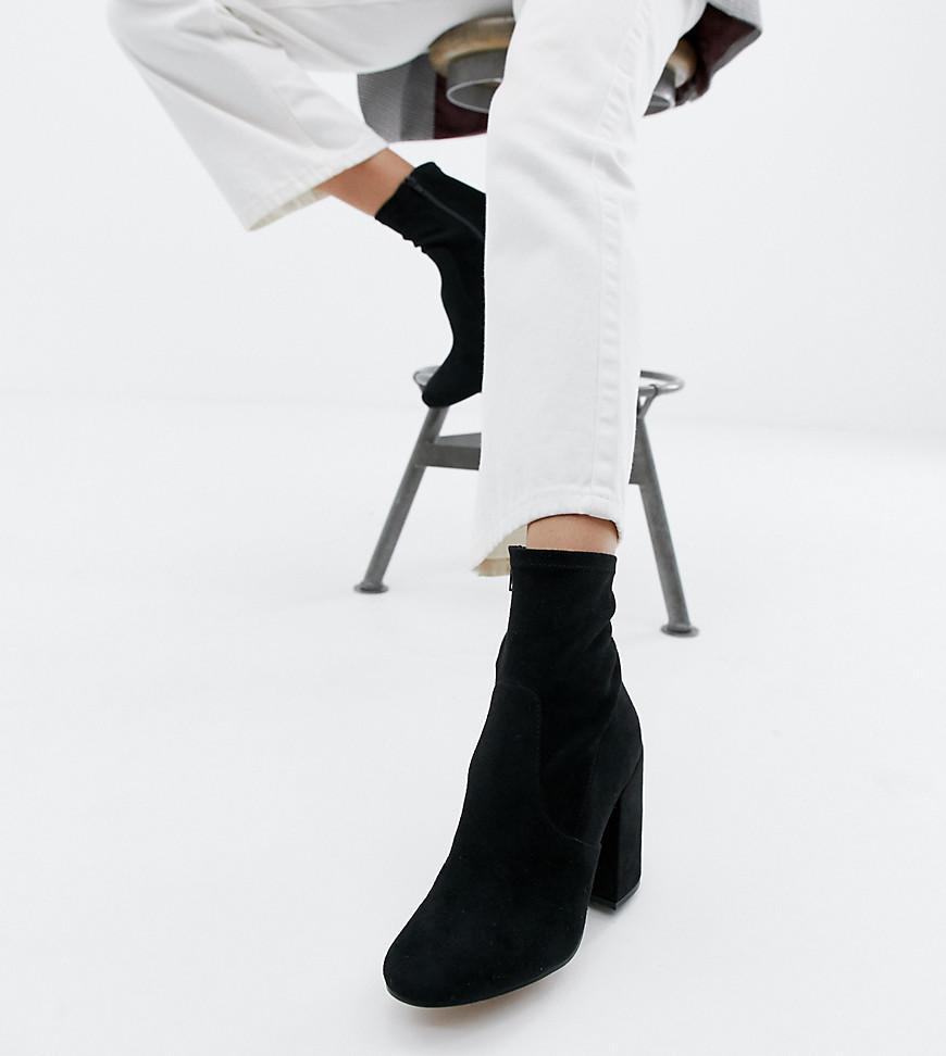 ASOS Denim Eastern Sock Boots in Black