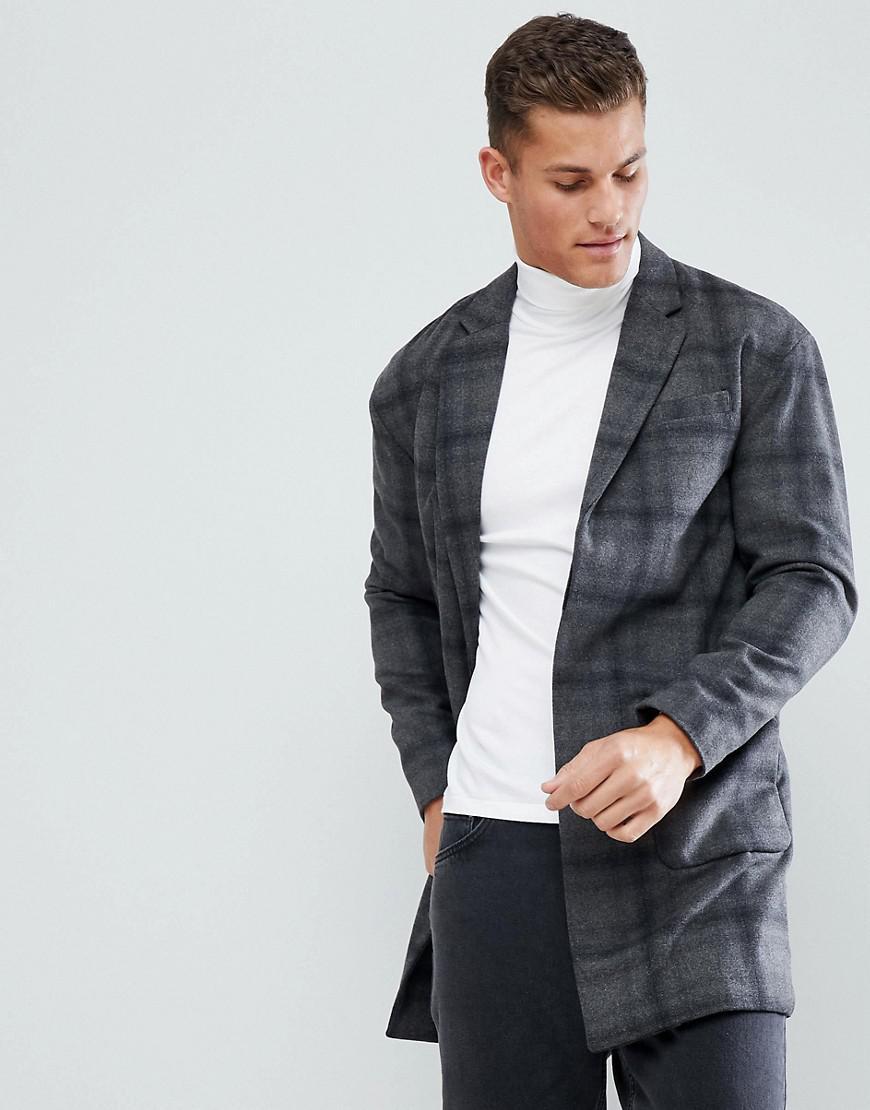Manteau gris stradivarius
