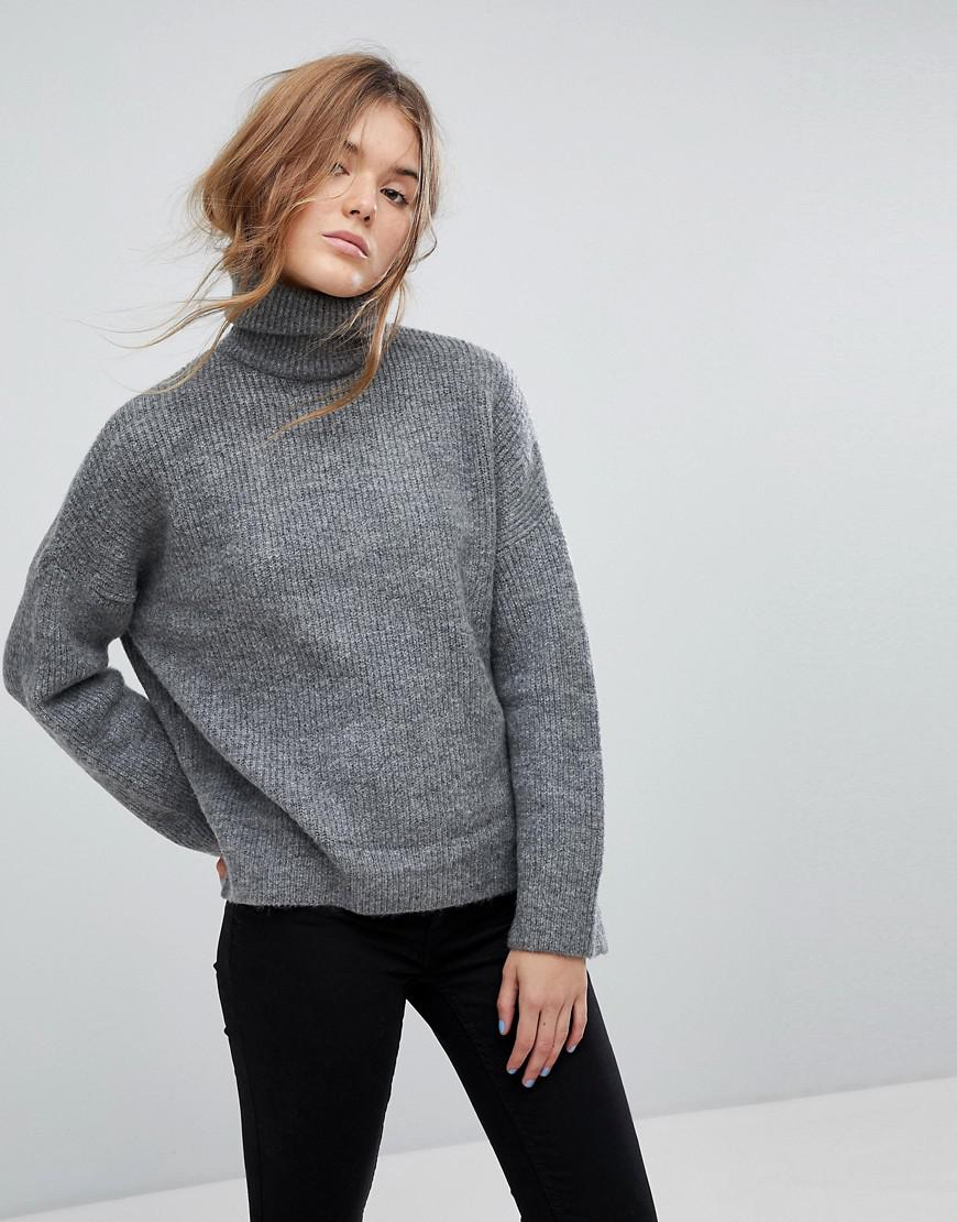 a060078ccbc31e Pimkie Chunky Roll Neck Jumper in Gray - Lyst