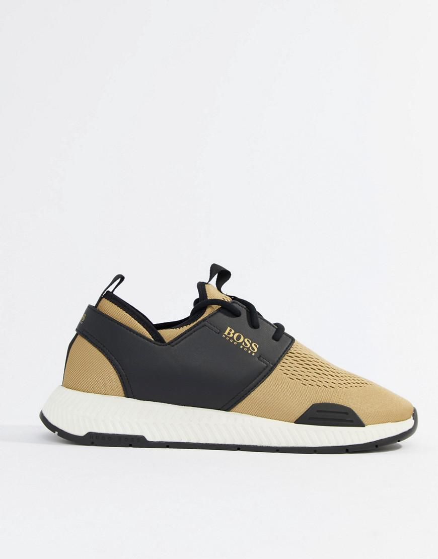 hugo boss trainers gold Shop Clothing