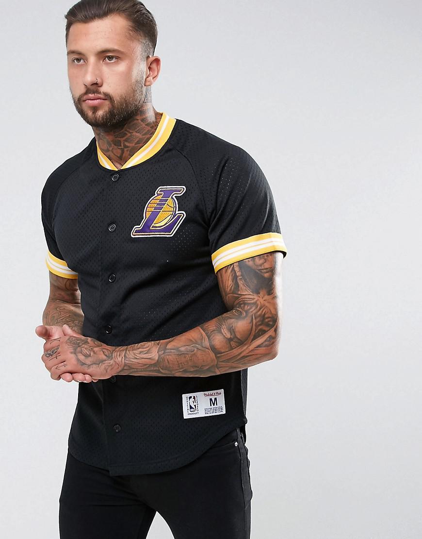 new product d0273 cbcae Men's Black Nba L.a Lakers Mesh T-shirt