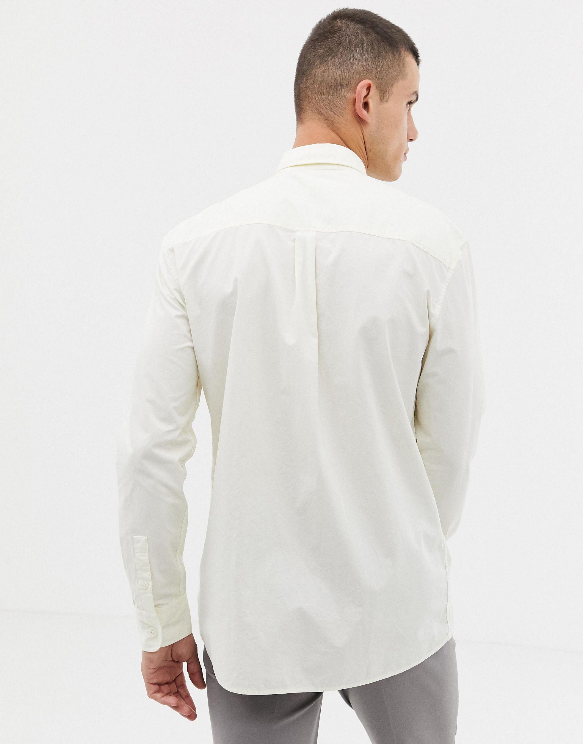 Noak Katoen Regular-fit Overhemd Met Dubbele Zakken in het Groen voor heren