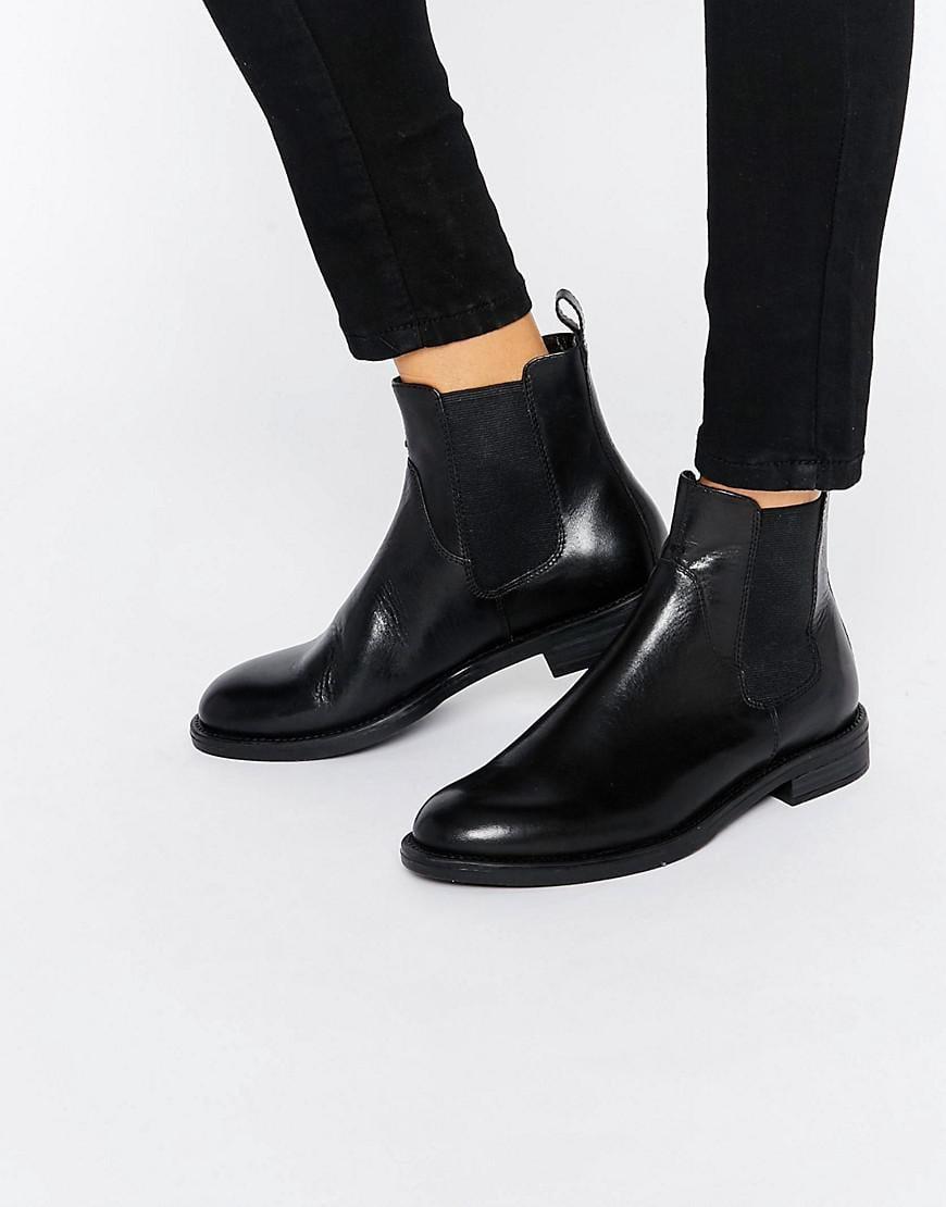 c2fd17ff8969 Vagabond Amina Black Leather Chelsea Boots in Black - Lyst