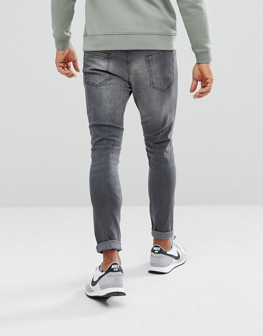 Pull&Bear Denim Carrot Fit Jeans In Grey Wash in Grey for Men