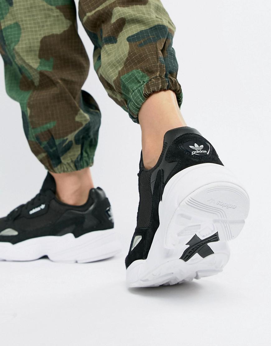 38fa22bfe Women's Falcon Sneaker In Black And White