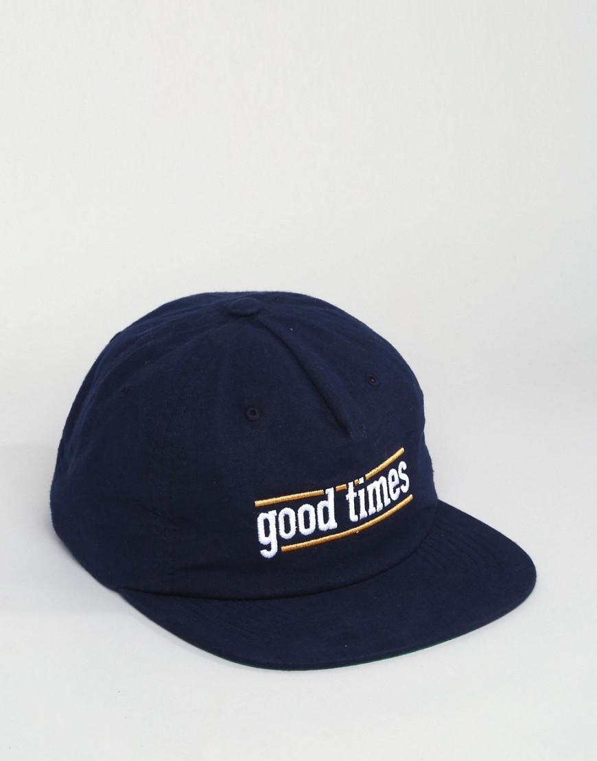 308c24db077 Lyst - Brixton Good Times 5 Panel Snapback Cap in Blue for Men