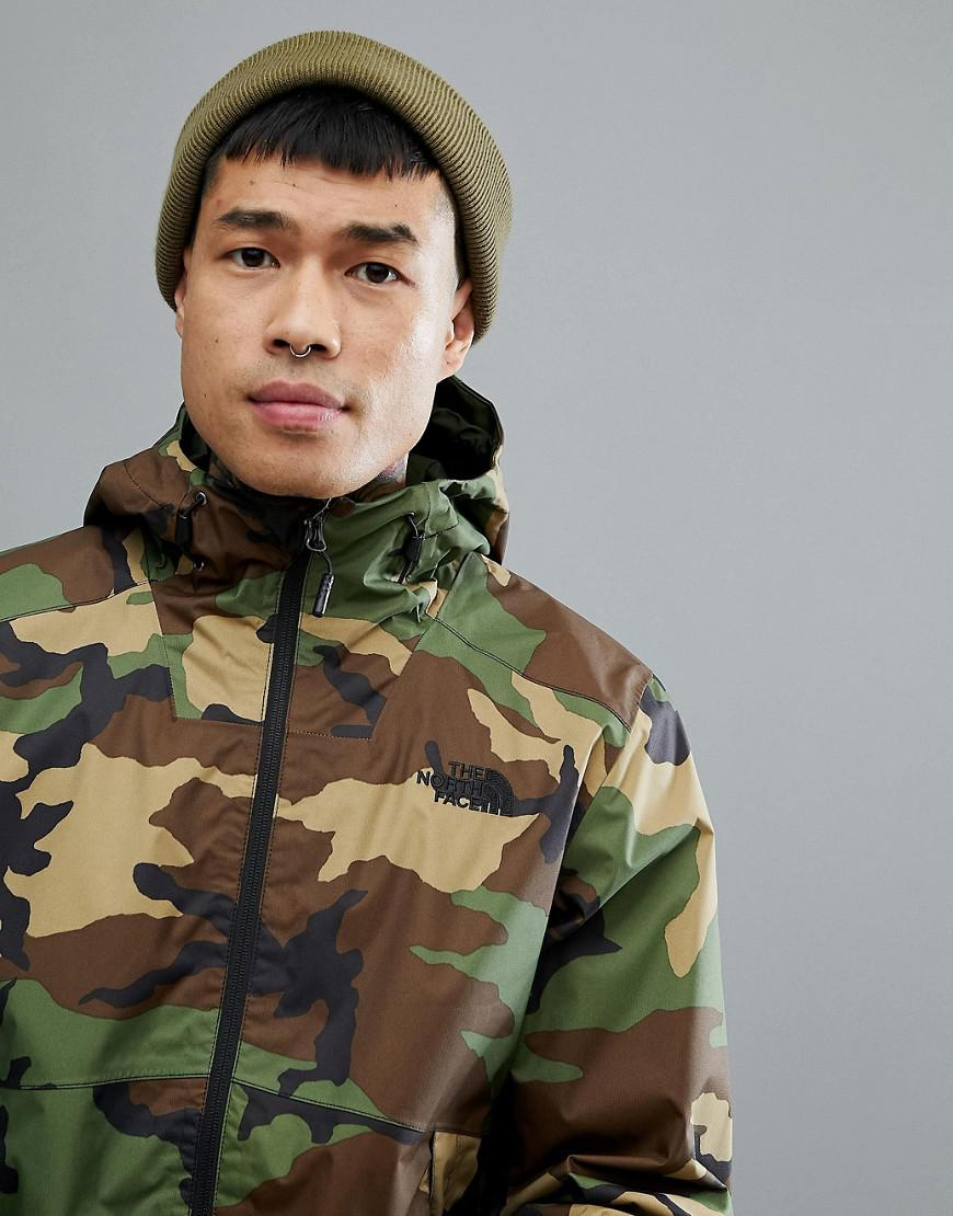3074761f2 The North Face Millerton Jacket Hooded Waterproof In Green Camo Print for  men