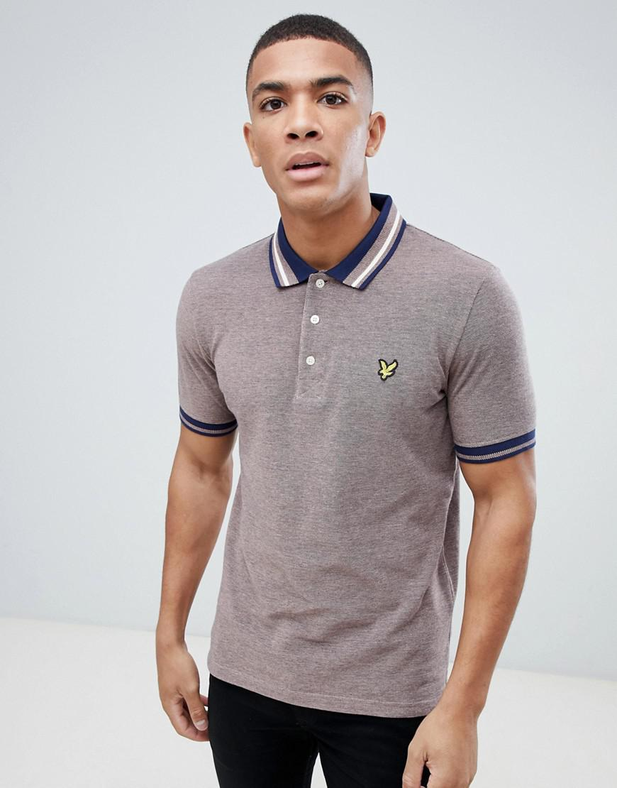 32a6b7ddcf2 Lyst - Lyle   Scott Oxford Weave Polo Shirt In Burgundy in Red for Men
