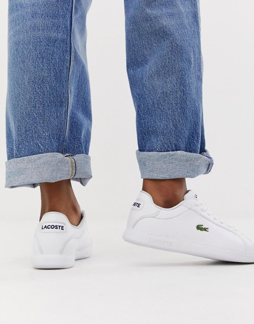 Lacoste Leather Womens White