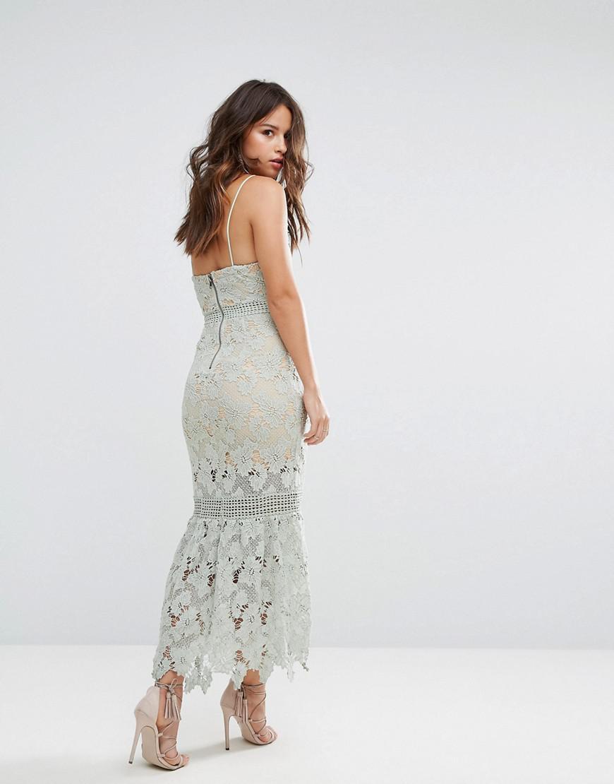Cami Strap Lace Dress With Pephem