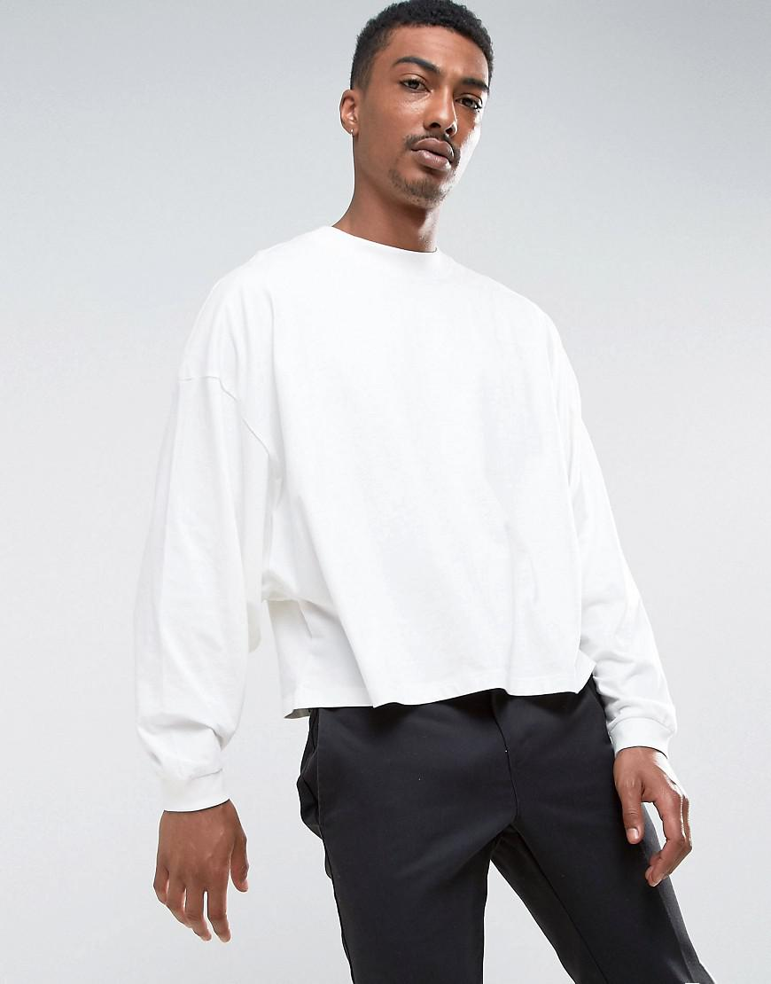 cbfc6cf7b021 ASOS Asos Long Sleeve T-shirt With Extreme Batwing In Cropped Length ...