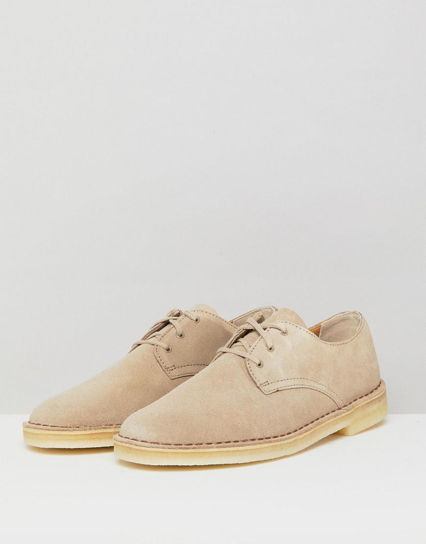 cocina vitamina Ten confianza  Clarks Clarks Desert Crosby Shoes In Stone Suede in Natural for Men - Lyst