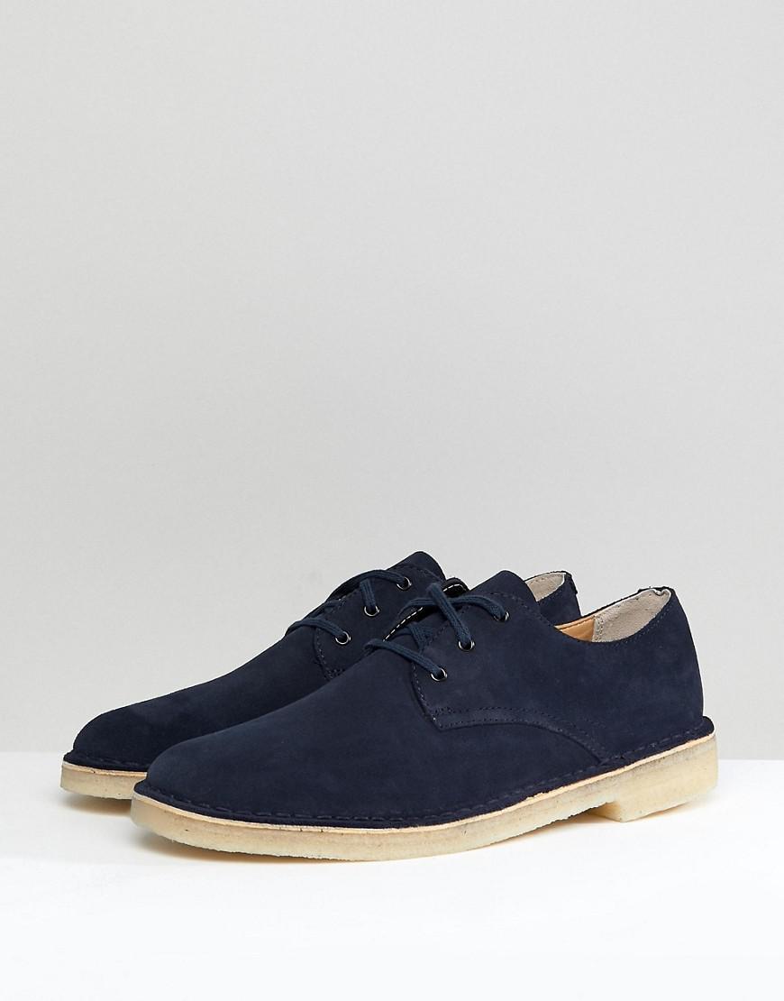 pedestal cuota de matrícula tenaz  Clarks Clarks Suede Desert Crosby Shoes In Navy in Blue for Men - Lyst