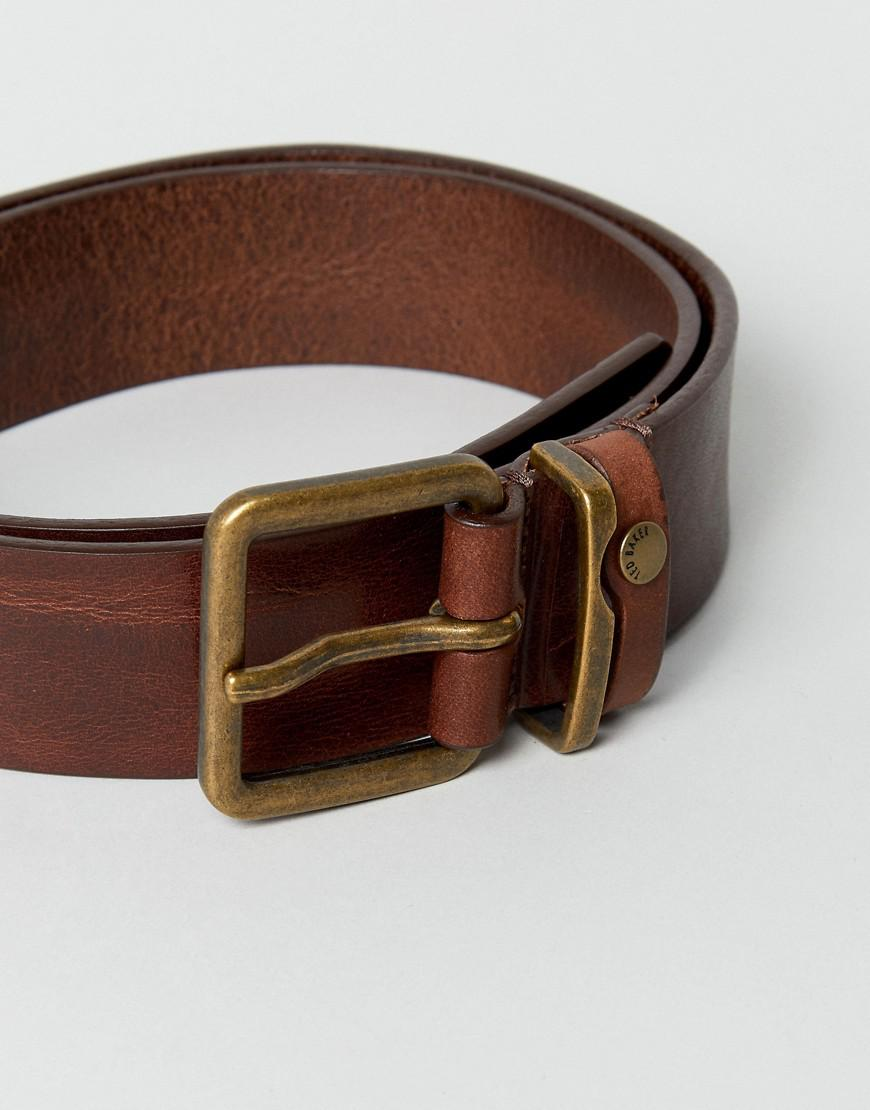 359898396 Lyst - Ted Baker Katchup Leather Belt in Brown for Men