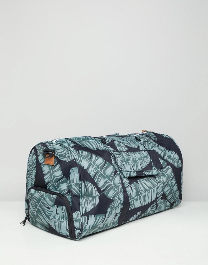 cedfad21be Herschel Supply Co. Novel Duffle Bag 42.5l In Palm Print in Black for Men -  Lyst