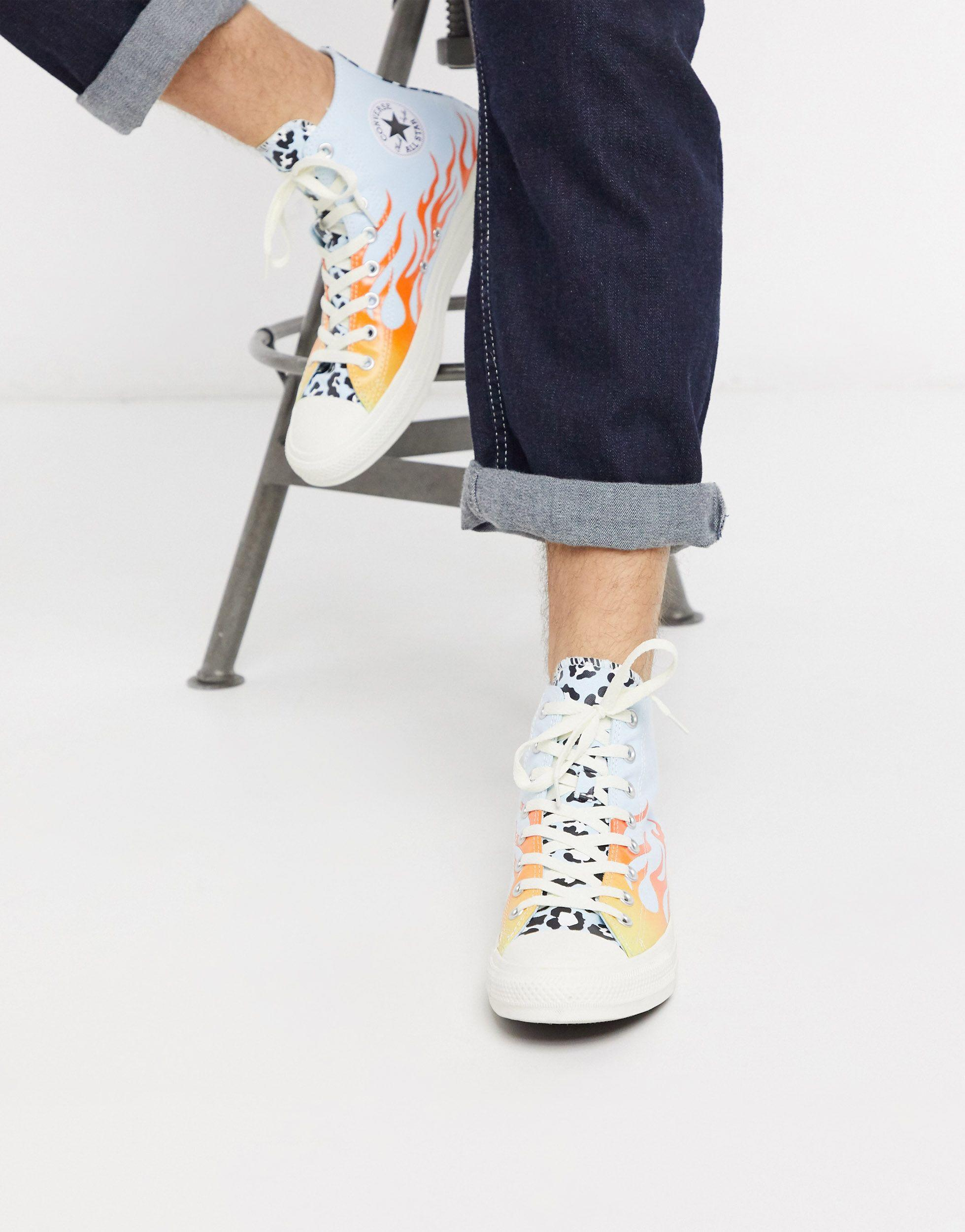 Converse Rubber Chuck Taylor All Star Archival Leopard And Flame ...