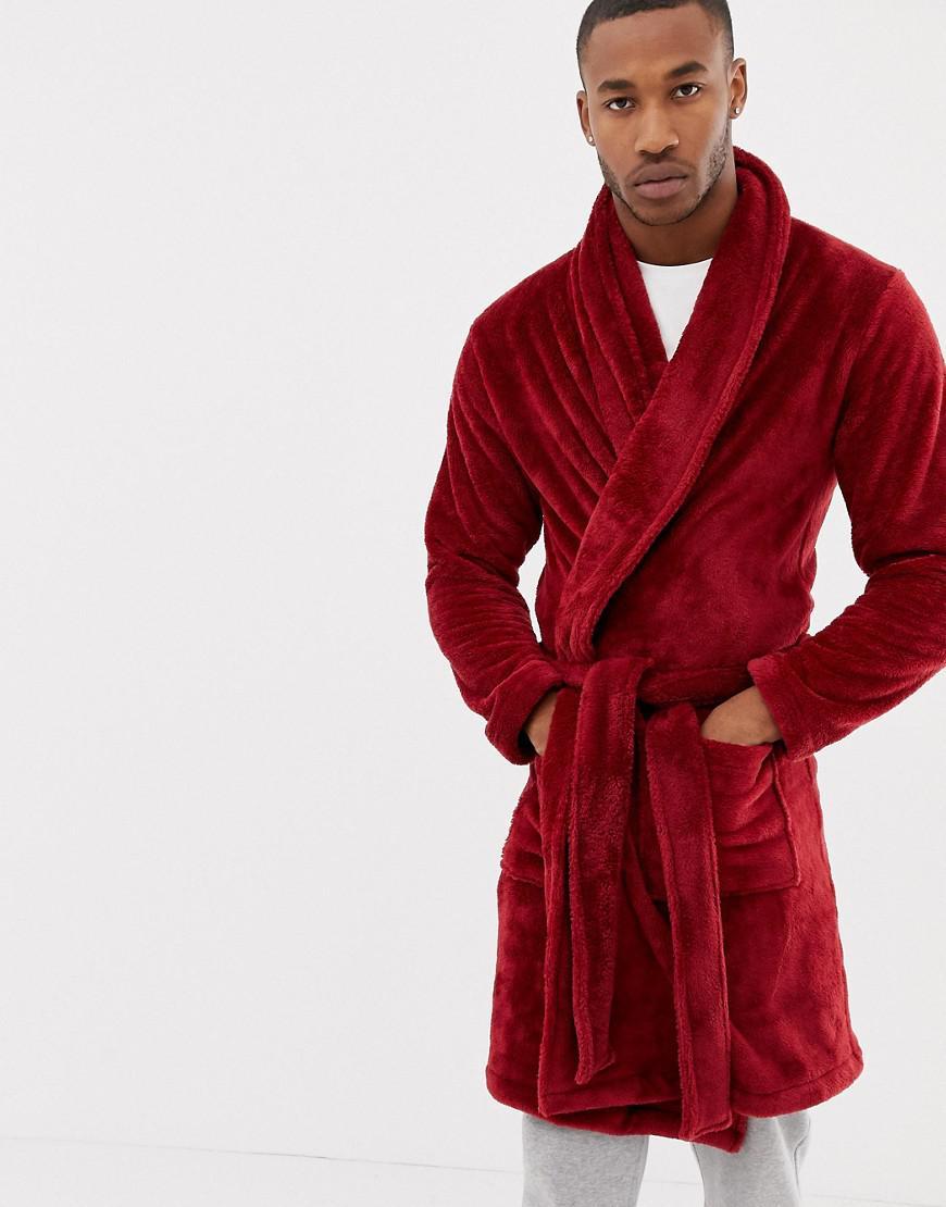 f274b3eba3 Lyst - ASOS Fluffy Robe In Red in Red for Men