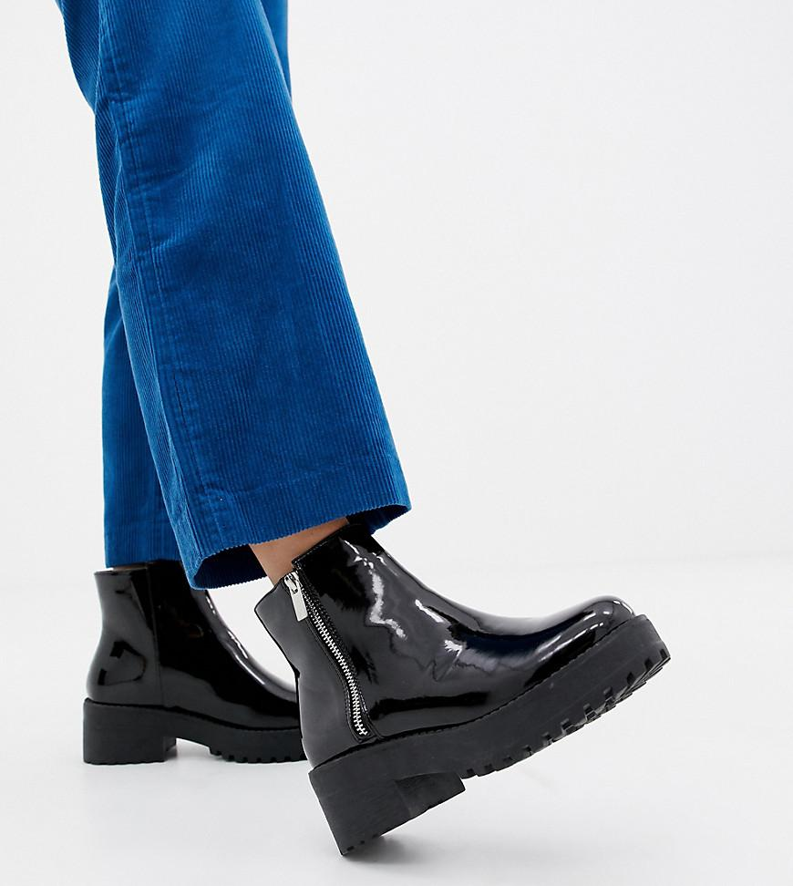 6e3669c9ec6 Women's Black Wide Fit Chunky Ankle Boots