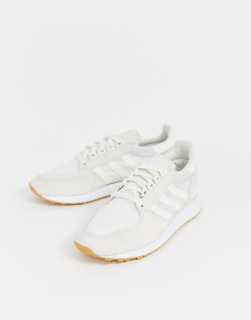 adidas Originals Suède Forest Grove - Sneakers In Wit in het Wit voor heren