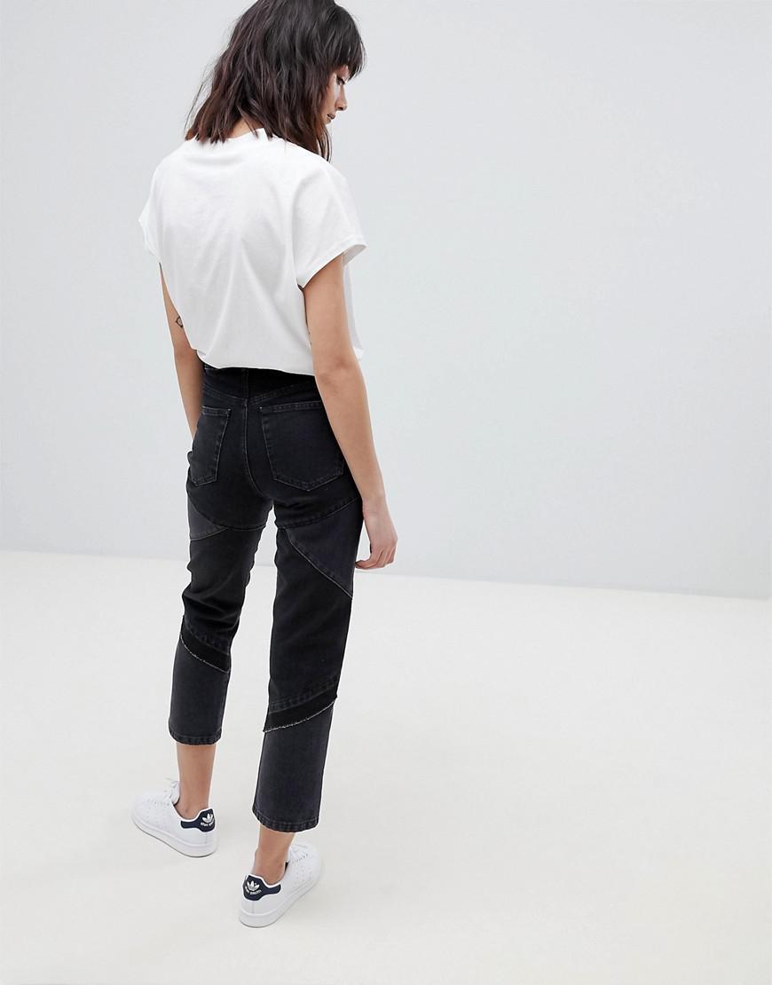 ASOS Denim Florence Authentic Straight Leg Jeans in Black