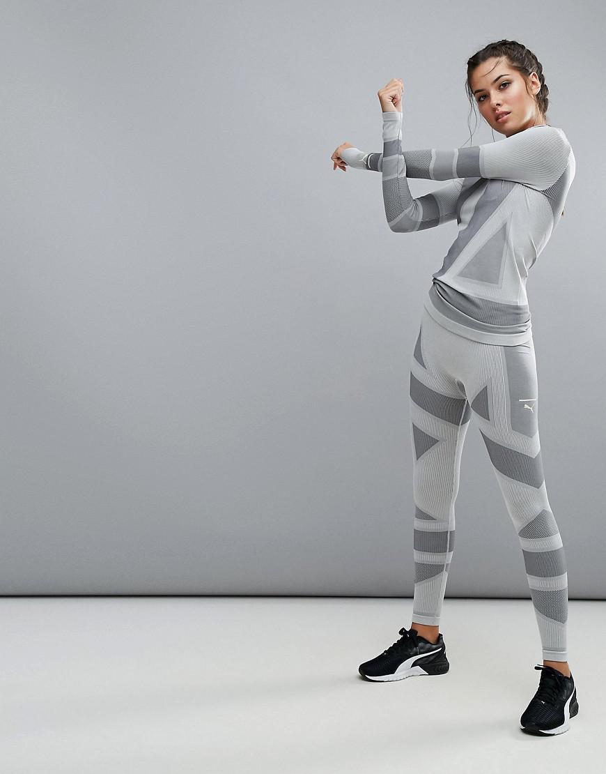 ec2b2388e18995 Lyst - PUMA Evoknit Legging In Gray in Gray