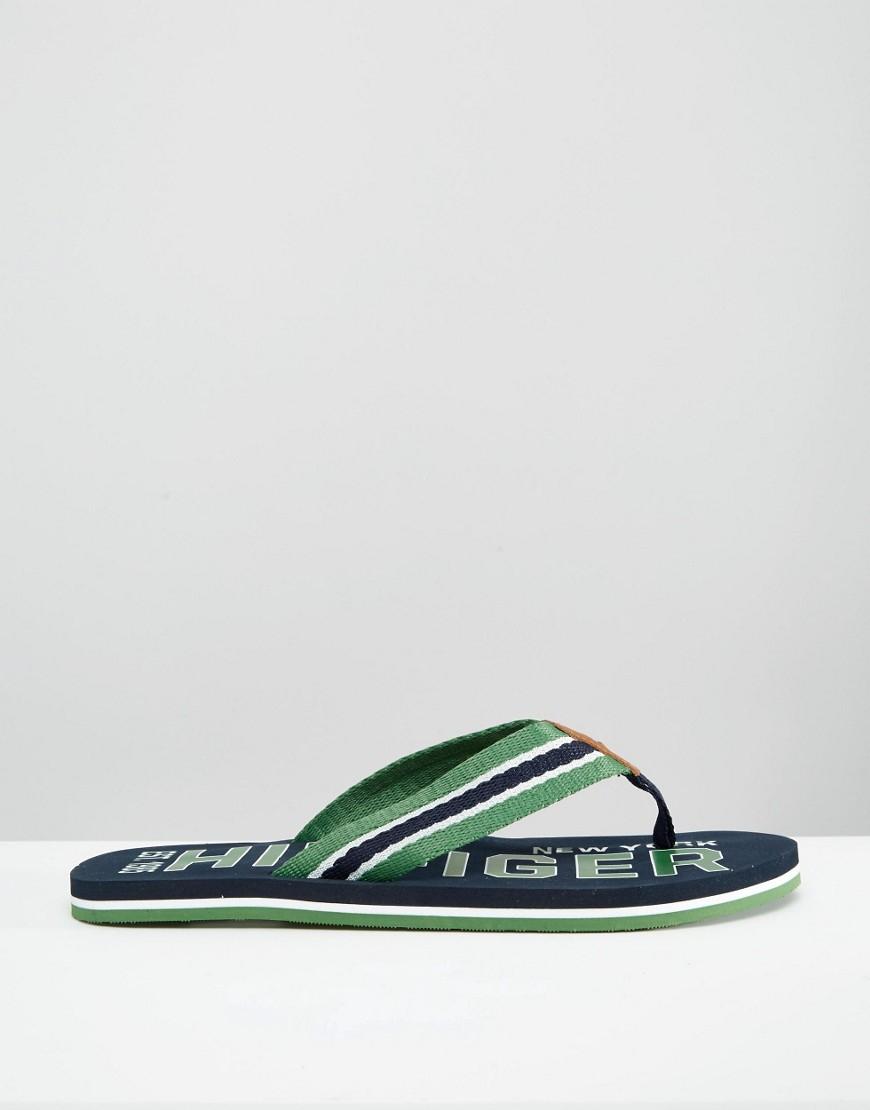 tommy hilfiger flip flops in green for men lyst. Black Bedroom Furniture Sets. Home Design Ideas